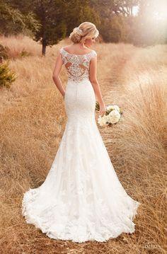Essense D2322 New Essense of Australia Fall 2017 Off the shoulder lace wedding dress