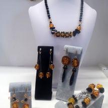 handmade beaded jewely set