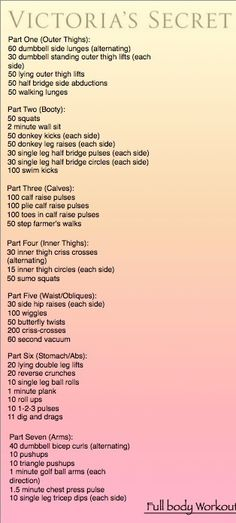 Victoria's secret full body work out...i should really do this. need to find motivation. brb.