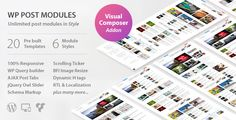 WP Post Modules for NewsPaper and Magazine Layouts v1.9.0  Blogger Template