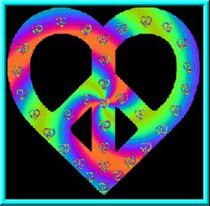 Peace Designs Peace And Love: Peace signs, heart shaped peace signs, with shimmering psychedelic color, bright lights pulsating through peace, love symbols. Hippie Peace, Happy Hippie, Hippie Love, Hippie Art, Hippie Style, Hippie Chick, Peace Love Happiness, Peace And Love, Peace Sign Art