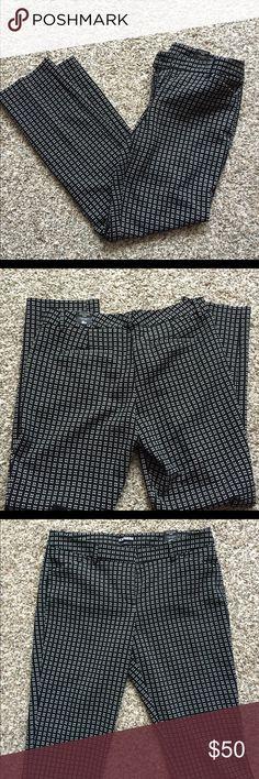 Editor Slim Pants Editor Slim Pants, black with white square dots. Straight through hip&at high. Comfy. Size : 10 regular. Express Pants Straight Leg