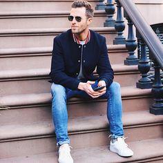 Street style: Preston Konrad wears the Royale sneaker in Blanco - $159. #beoneofthegreats #greatsbrand #greats