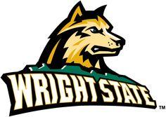 Wright State Raiders Primary Logo (2001) - Dog head over script