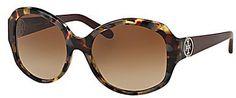 Tory Burch Modern Oversized Round Gradient Sunglasses