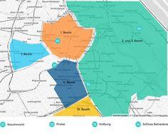 Die besten Bezirke zum Übernachten auf einer Karte Holiday Travel, Munich, Map, Prague, Vienna, Urban Park, Viajes, Tips, Location Map