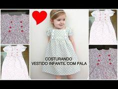 Costurando Vestido Infantil com Pala