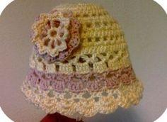 Free Crochet Newborn Girl Hat Pattern