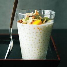 Pearl Tapioca Pudding With Coconut Cream. Sago (tapioca) is widely used in the Phillipines (choup!)