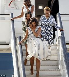Obama girls land in windy Spain after jaunt to Liberia and Morocco