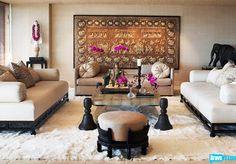 A very chic Martyn Lawrence Bullard-designed living room