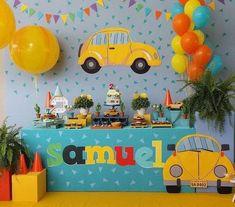 2nd Birthday Party For Boys, Cars Birthday Parties, Baby Boy Birthday, Cake Birthday, Simple Birthday Decorations, Transportation Birthday, Festa Party, Organize, Awesome