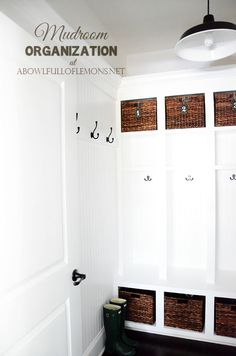 Need some serious mudroom inspiration? Check out this post with all kinds of practical, why-didn't-I think-of-that ideas to make your space work for you and your family. Via A Bowl Full of Lemons
