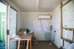 Available from only R1700 per month, the Topshell Standard Office Container is fully insulated and features an electric distrubution board, overhead lights, wall plugs, integrated burglar bars and a safety gate. Optional Extra: Air Conditioning. #onsiteoffice #officecontainer #construtionsite #constructionoffice #shippingcontaineroffice #buildersoffice #mobileoffice #portableoffice #movableoffice Shipping Container Office, Burglar Bars, Site Office, Mobile Office, Overhead Lighting, Wall Plug, Conditioning, Plugs, Gate