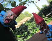 Zombie Gnomes....Lil guys,waiting to rip off your face