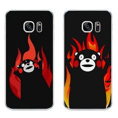 For Samsung Galaxy J3 J5 J7 2016 Phone Case S4 S6 S7 Edge Plus Shell C5 C7 Transparent Cover Soft Silicon Angry Kumamon Pattern