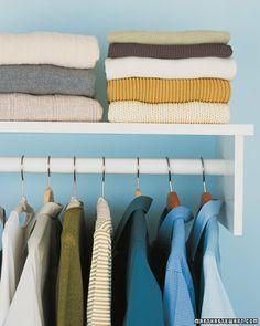 Hanging vs. Folding Clothing - Martha Stewart Clotheskeeping