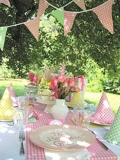 Combine different gingham colors- great idea!