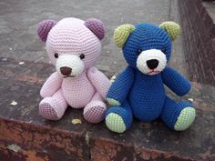 GlobeIn: Crochet #bear toy blue color #crochet #bear