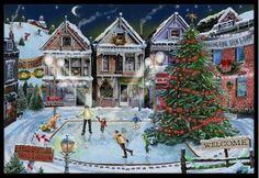 Christmas Family Skate Night Mat