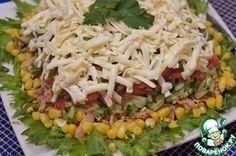 Вкусный и легкий салат с тунцом