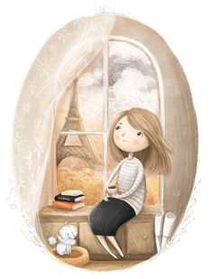 46 ideas cute children illustration artists for 2019 Illustrations, Children's Book Illustration, Character Illustration, Cute Girl Illustration, Image Positive, Cute Drawings, Cartoon Art, Cute Wallpapers, Cute Art