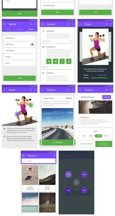 Material UI Kit: Fitness