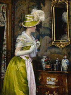 """The Mirror"" (1889) by Gunnar Berndtson"