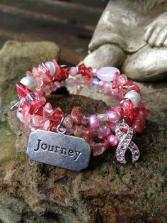 Journey of Faith Three Wrap Beaded Memory Wire by DFInspirations, $30.00