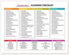 Housekeeping checklist sop spa cleaning checklist partys printable monthly cleaning schedule fandeluxe Images
