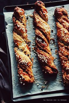 """SACRISTAIN ~ sacristain are pastries of almonds and cinnamon. gateway: this post's link (sans recipe) is of a sacristain w/chocolate and pearl sugar + a share from, """"bake!"""" http://www.marthastewart.com/340326/sacristains [France] [Nick Malgieri] [flickr] [cphilippeau] [Martha Stewart] [funfetti, sprinkles, nonpareils, jimmies, dragee, sanding sugar, shaped sprinkles, crystal sugar, hundreds-and-thousands, perle en sucre, nib sugar, pearl sugar, hail sugar]"""