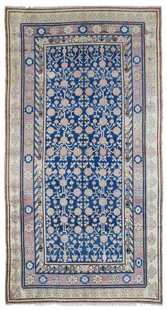 Khotan carpet, East Turkestan.