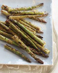 mustard and mayonnaise glazed asparagus