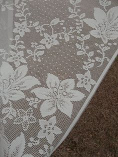 Vintage Lace Curtain Kitchen Window Treatment Valance Swag French Country Farmhouse Green Lace Cottage Chic Beach House Decor Sewing Supply. $14.00, via Etsy.