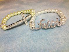 Pave Faith and Cross Bracelets. $15