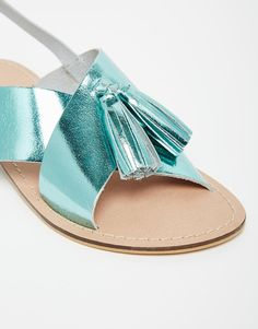 Image 4 of ASOS FOXTROT Leather Tassel Sandals