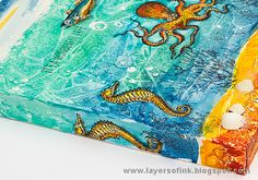 Layers of ink - Textured Watercolor Canvas Tutorial by Anna-Karin