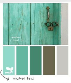 turquoise/green color inspiration for family room makeover | teal