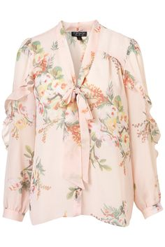 Floral Print. Pair with solid colored pants -- like mint.