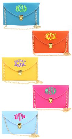 Need the perfect Summer accessory?  #cute #love #ootd Monogrammed Luxe Cross Body Clutch from Marleylilly.com.