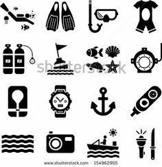 Diving icons by andromina via Shutterstock Diving Logo, Scuba Diving, Padi Diving, Scuba Diver Tattoo, Diving Tattoo, Dove Tattoos, Tatoos, Doodle Icon, Monogram Decal
