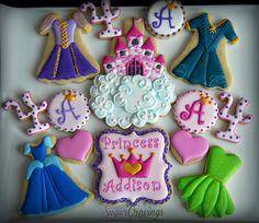 Disney Princess dress cookies by Sugar Cravings