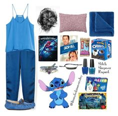 """Stitch Sleepover"" by disneyfashioneveryday ❤ liked on Polyvore featuring T By Alexander Wang, H&M, UGG Australia, Sunbeam, Disney, OPI, women's clothing, women, female and woman"