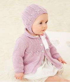 Booklet 648: Classic bonnet and matinee coat in Baby Silk and Bamboo DK