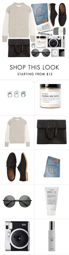 """""""Boxed"""" by rheeee ❤ liked on Polyvore featuring Fig+Yarrow, See by Chloé, Maison Margiela, Gap, Abercrombie & Fitch, Korres, Fuji, Colbert MD and Falke"""