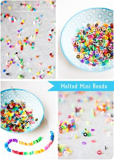 Melted MINI Plastic Beads. The easy way. - By Craft & Creativity