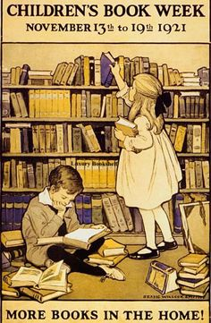 Vintage Children's Book Week Poster