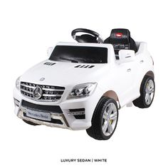 joy riders mercedes luxury sedan white big kids will have hours of ride on driving fun built of durable yet lightweight materials this mini mercedes benz