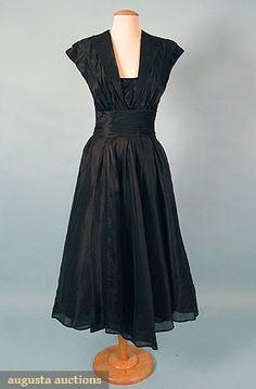 Ceil Chapman Party Dress, 1950s, Augusta Auctions, March/April 2005 Vintage Clothing & Textile Auction, Lot 470