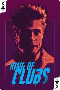 King of Clubs (Tyler Durden) by unknown #fightclub #chuckpalahniuk #bradpitt